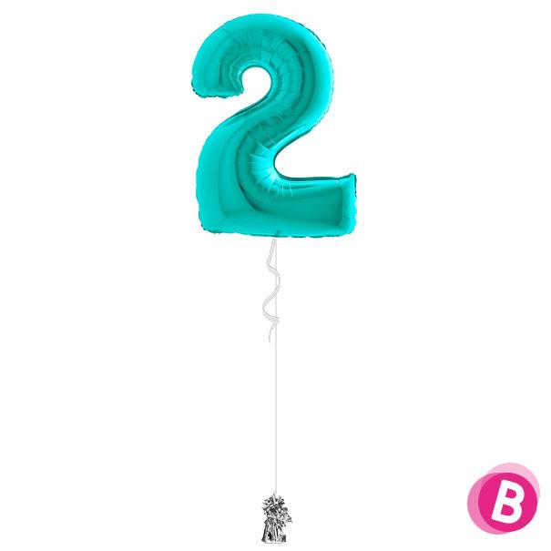 Ballon-2-Turquoise-à-l'hélium
