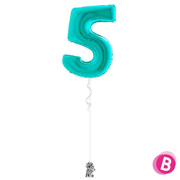 Ballon-5-Turquoise-à-l'hélium