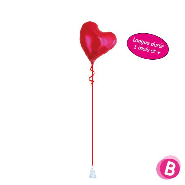 Ballon Coeur Longévité à l'hélium