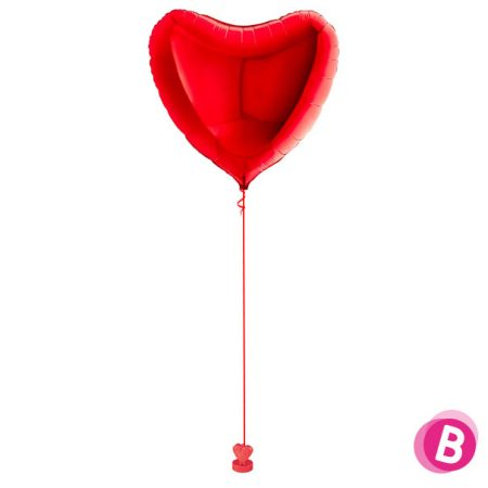 Bouquet de ballons hélium Coeur ruby red Giant