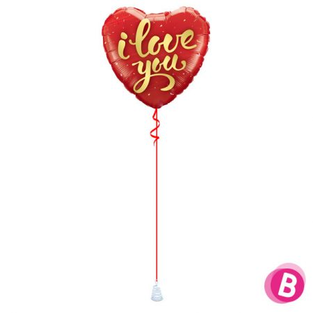 Ballon I Love You Or à l'hélium