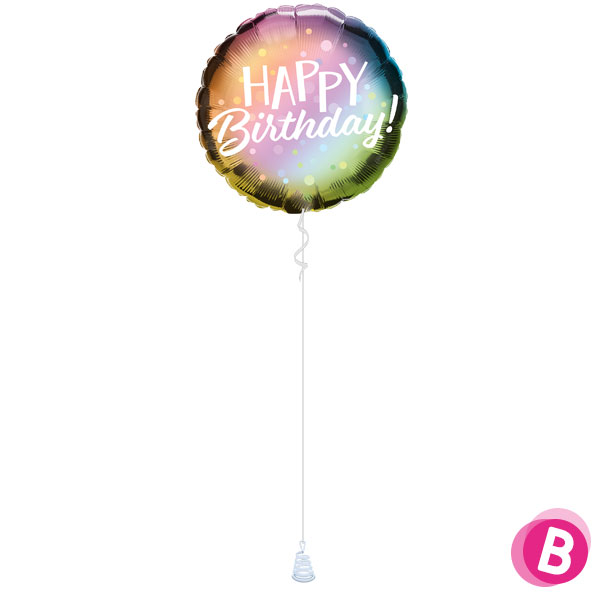 -Ballon Happy Birthday Metallic Ombre