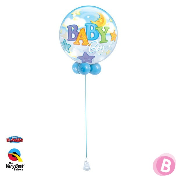 Bubble Baby Boy Stars Moon Walker