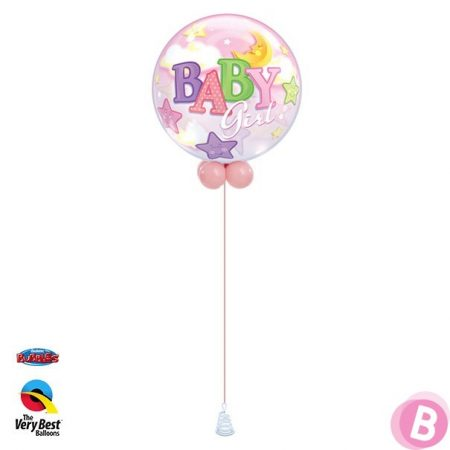 Bubble Baby Girl Stars Moon Walker