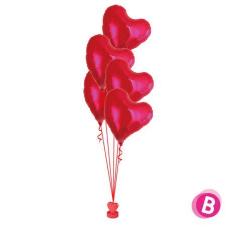 Bouquet de ballons hélium Sweet heart Alu Classic