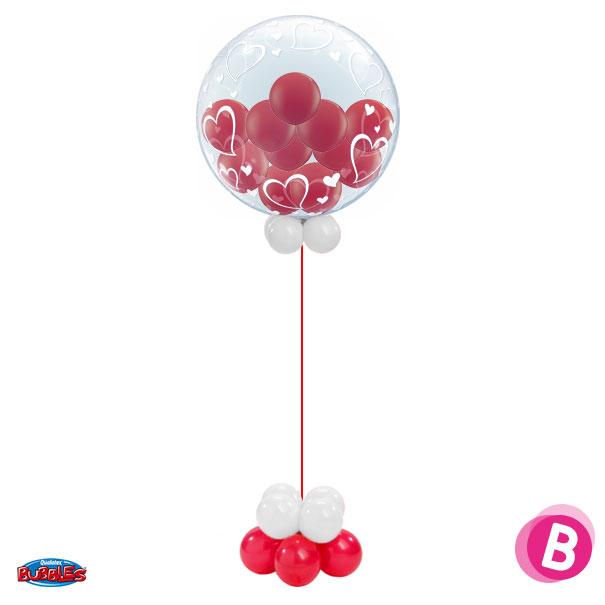 Composition BubbleGum Love à l'hélium