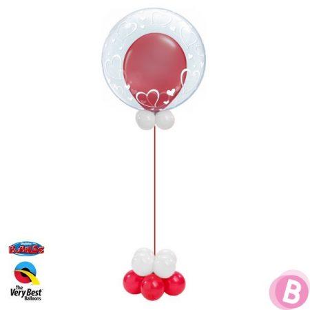 Deco Bubble Coeurs Elégants Ballon Rouge