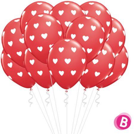 Flot Ballons rouge à Coeurs
