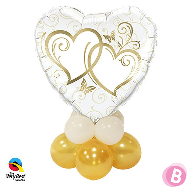 Mini Entwined Hearts Gold