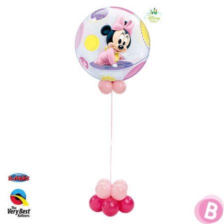 Ballon hélium naissance Minnie bébé