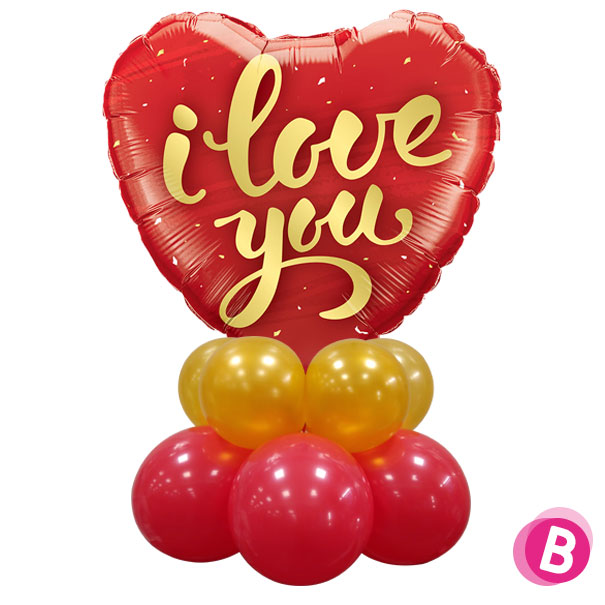 "Ballon Cœur ""I Love You"" Décor de table"