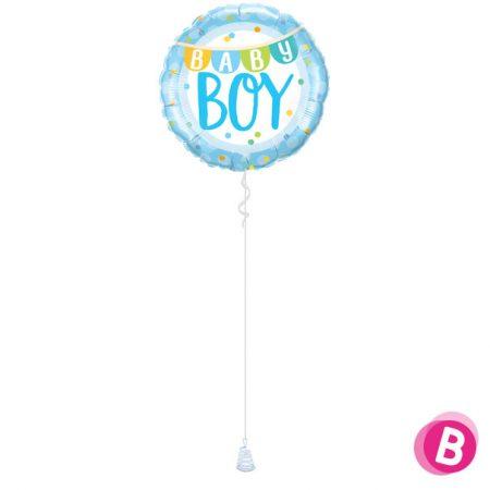 Ballon Baby Boy banner à l'hélium