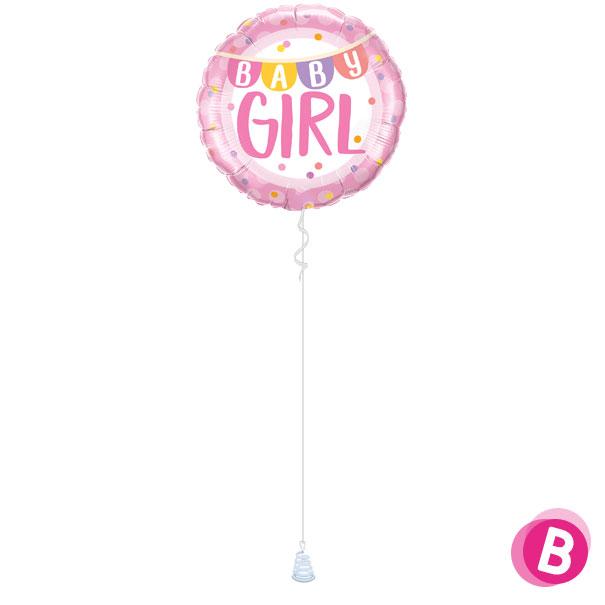 Ballon Baby Girl banner à l'hélium