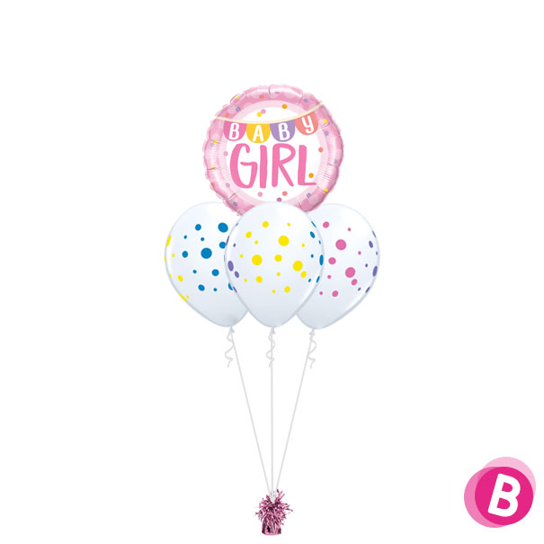 Bouquet Nuage Baby Girl Colorful Dots