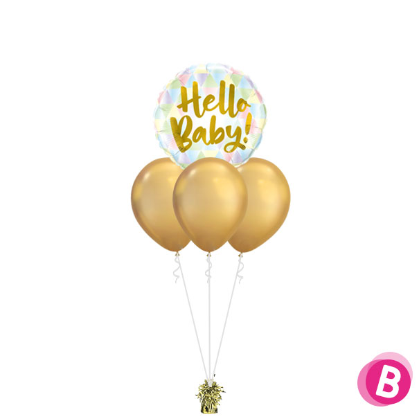 Bouquet Nuage Hello Baby Chrome Gold