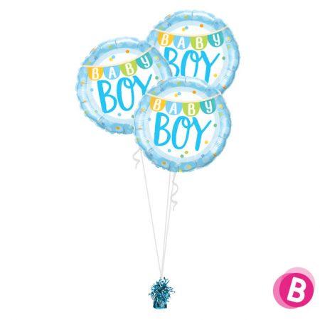 Bouquet de ballons Trio Baby Boy