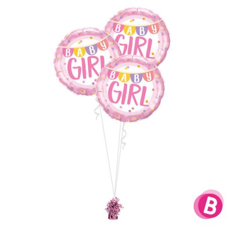 Bouquet de ballons Trio Baby Girl