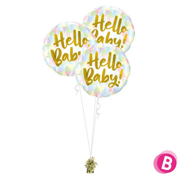 Bouquet de ballons Trio Hello Baby