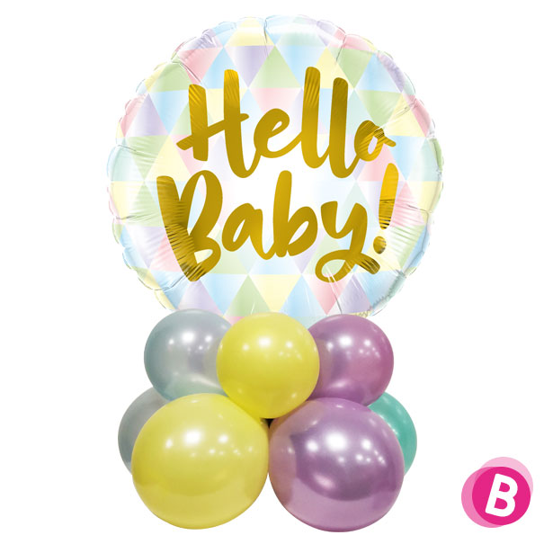 """Ballon Naissance Décor de table """"Hello Baby"""""""