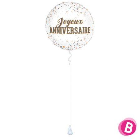 Ballon Joyeux Anniversaire Dots
