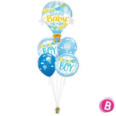 Bouquet Magique Welcome Baby Blue