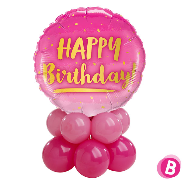 Décor de table Happy Birthday Gold & Pink