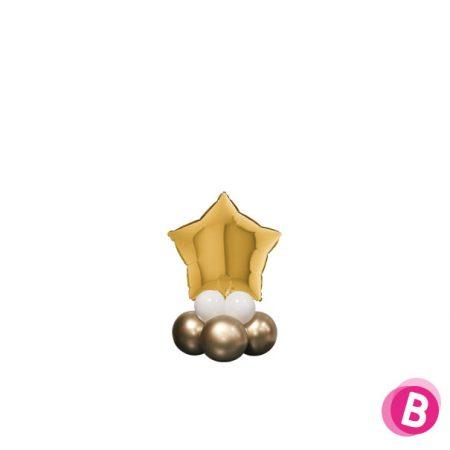 Ballon Étoile Or Mini Décor de Table