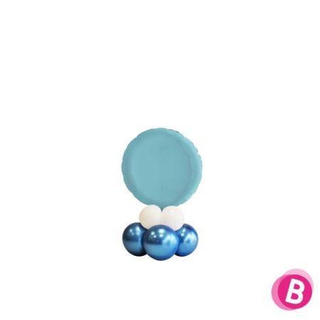 Ballon Rond Bleu Pastel Mini Décor de Table