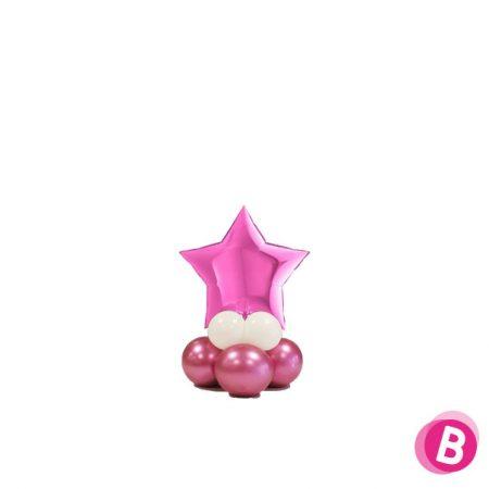 Ballon Étoile Fuschia Mini Décor de Table