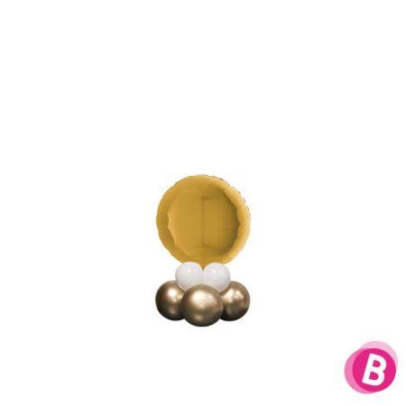Ballon Rond Or Mini Décor de Table