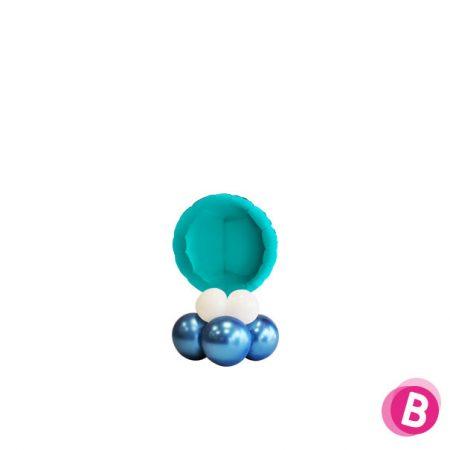 Ballon Rond Turquoise Mini Décor de Table