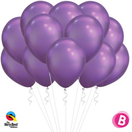 Flot ballons Chrome Purple