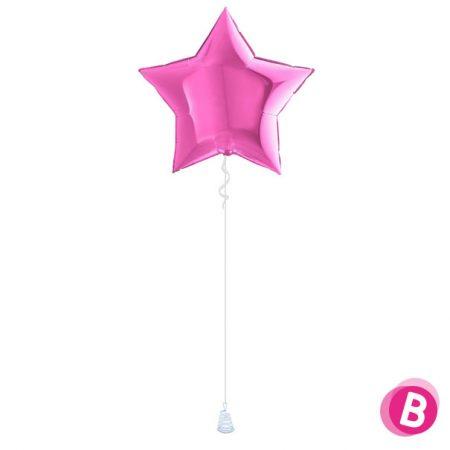 Ballon Étoile Fuchsia alu