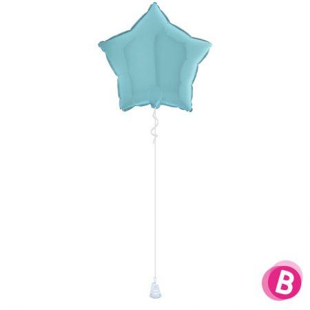 Ballon Étoile Bleu Pastel alu