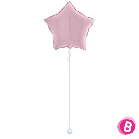 Ballon Étoile Rose Pastel alu