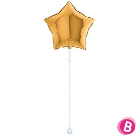 Ballon Étoile Or alu