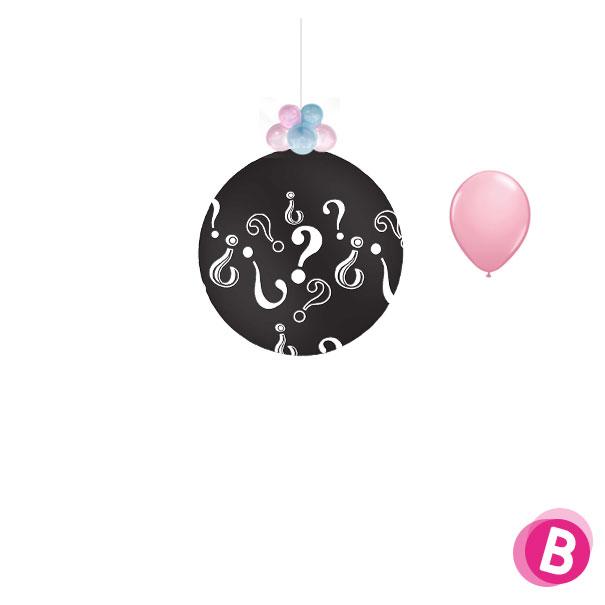Ballon révélation Fille à suspendre