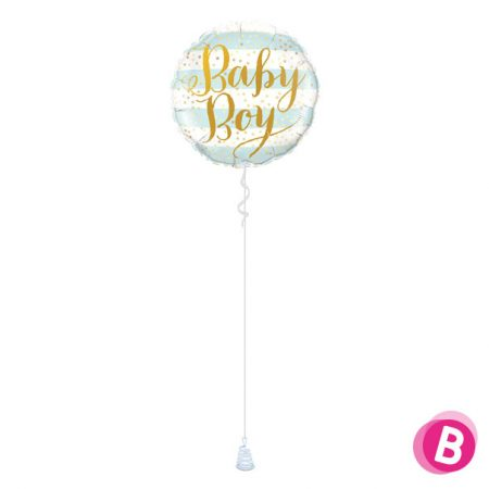 Ballon Naissance Baby Boy Stripes