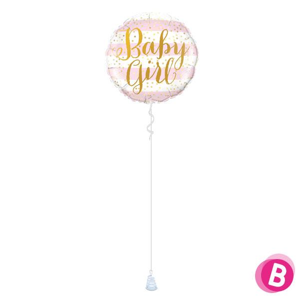 Ballon Naissance Baby Girl Stripes