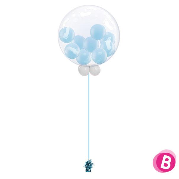 Ballon BubbleGum Bleu