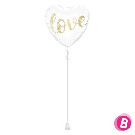 Ballon Cœur Or Love