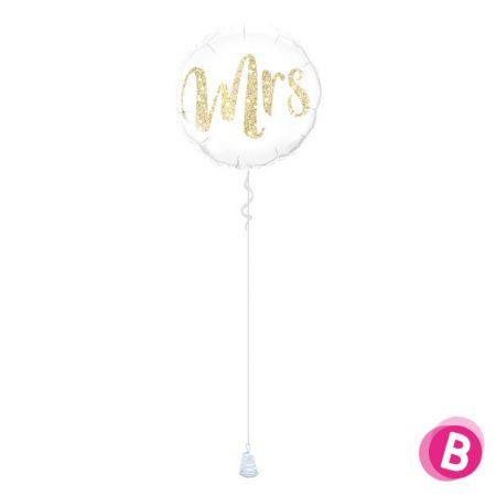 Ballon Mariage Mrs Gold