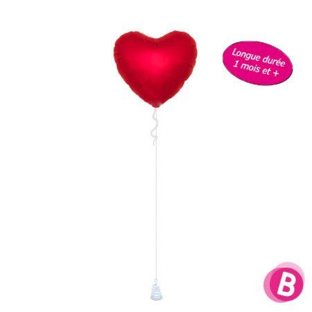 Ballon Cœur Rouge Longue Durée