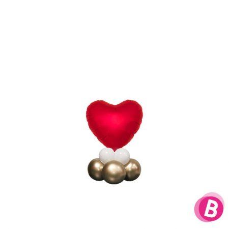 Ballon Cœur Rouge Décor de table longue durée