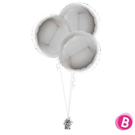 Ballons Ronds Argent Trio