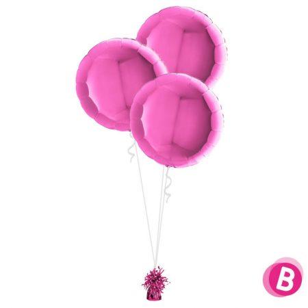 Ballons Ronds Fuchsia Trio