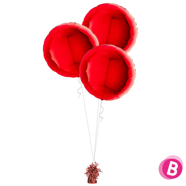 Ballons Ronds Rouge Trio