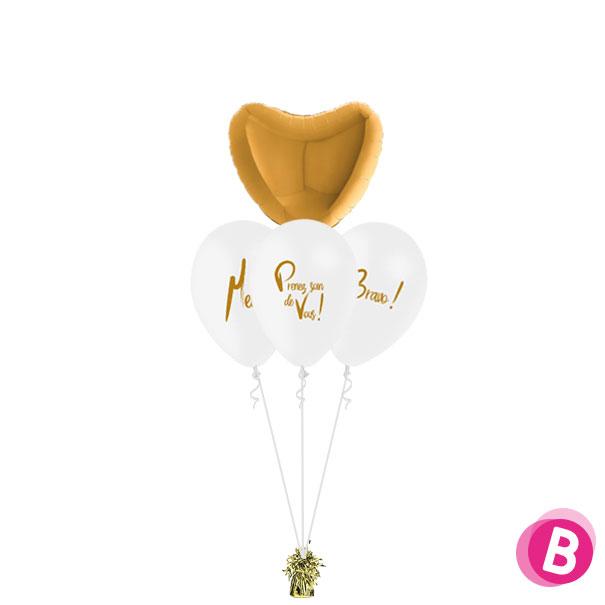 """Bouquet nuage """"Merci"""" """"Prenez soin de vous"""" """"Bravo"""" Cœur"""