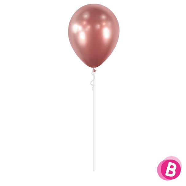 Ballon Chrome Rose