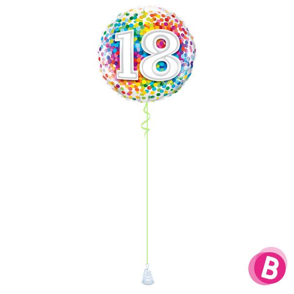 Ballon Anniversaire 18 Multicolore